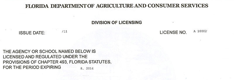 Florida Security Manager license test