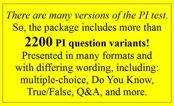 practice questions for the CA PI license exam